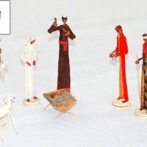 Nativity 7 pezzi con abiti