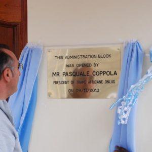 Novembre 2013_ Il nostro Presidente Pasquale Coppola inaugura il Blocco Amministrativo
