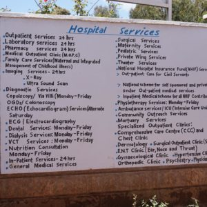 Servizi offerti dal STMH di Kiirua