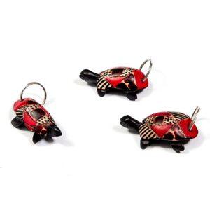 Tartaruga legno portachiavi